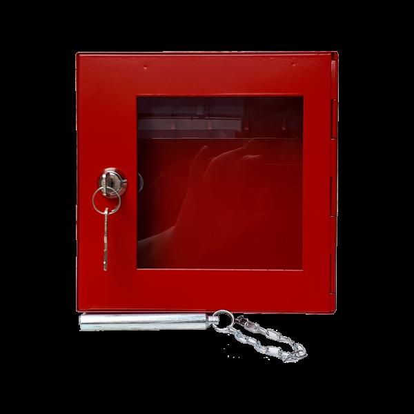 Notschlüsselkasten NSK- 16 G Glasscheibe mit Klöppel und Zylinderschloss von Hautmann Tresore